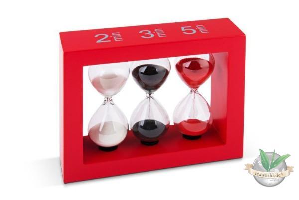 Sanduhr Tea-Timer für 2,3 und 5 Min. rot