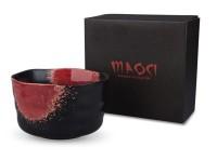 Matcha-Schale 400ml schwarz/rot Geschenkbox