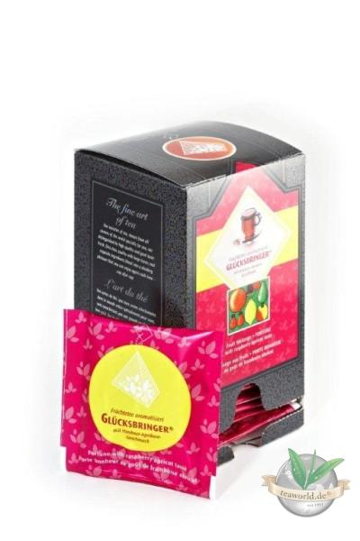 Glücksbringer Früchtetee 15 Pyramiden Teebeutel