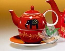 """Tea for one Set """"Benares"""" Keramik, 4 teilig Kanne: 0,4 l, Tasse: 0,2l"""