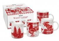 4er Geschenkset - Winter Cottage
