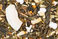 Kokosmakrone - Grüner Tee