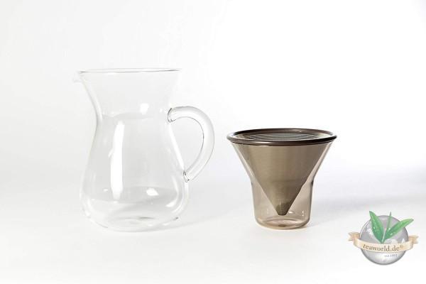 "Kinto ""Slow Coffee Style"" Kaffeekaraffe Set mit Filter, 600ml"
