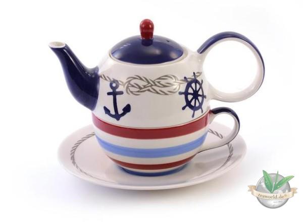 "Tea for one Set ""Silje"" Keramik, 4-teilig Kanne: 0,4 l, Tasse: 0,2 l"