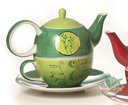 "Tea for one Set ""Goa"" Keramik, mit Goldauflage Kanne: 0,4 l, Tasse: 0,2 l"