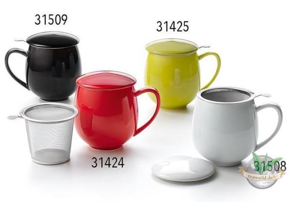 "Teetasse ""Saara"" Porzellan, 3- teilig, Lime-Grün 0,35 l"