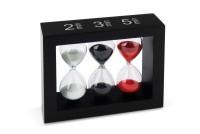 Sanduhr Tea-Timer für 2,3 und 5 Min. schwarz