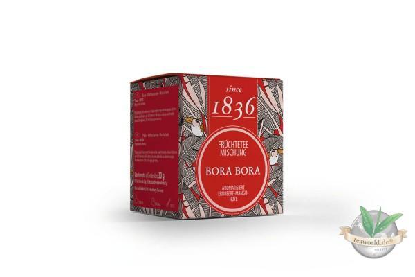 Früchtetee Bora Bora Erdbeer-Mango-Note 15 Pyramidenbeutel im Sachet à 4 g