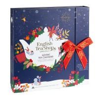 """Teebuch Adventskalender """"Christmas Night"""", 25 Boxen mit Pyramiden Teebeuteln"""