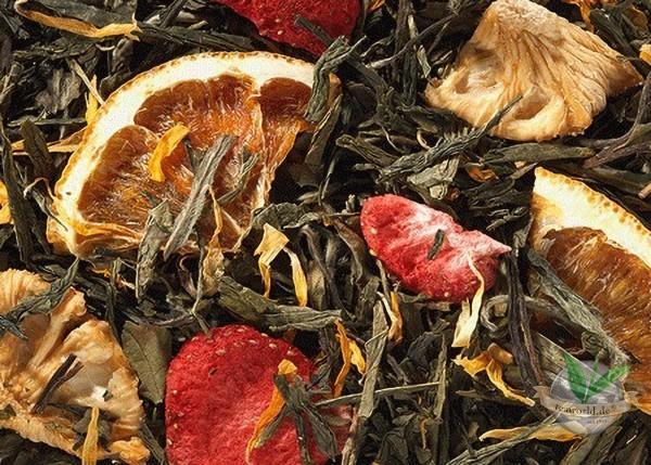 Frühlingsanfang Erdbeer-Ananas-Note Grüner Tee