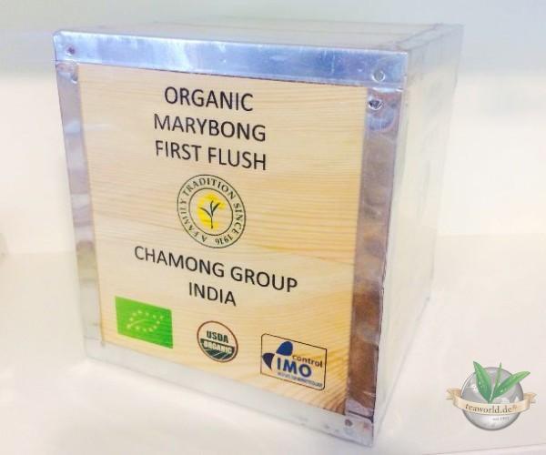 Bio Darjeeling FTGFOP1 first flush MARYBONG in einer 1000g Holzkiste