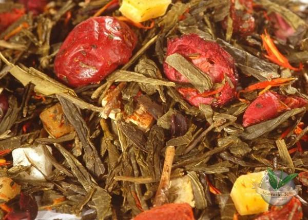 Granatapfel-Cranberry Gelber Tee, aromatisiert