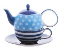 """Tea for one Set """"Oke"""" Keramik, 4-teilig Kanne: 0,4 l, Tasse: 0,2 l"""