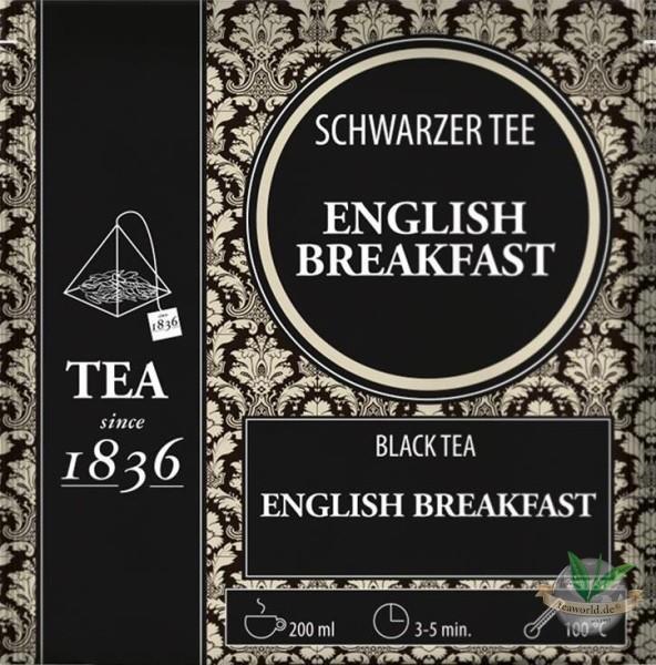 Schwarzer Tee English Breakfast - 50 Pyramidenbeutel à 3g