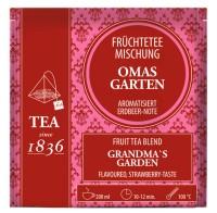 Früchtetee Oma´s Garten Erdbeer-Note 50 Pyramidenbeutel im Sachet à 4 g