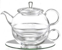 "Tea for one Set ""Lucas"" Glas, 4 teilig Kanne: 0,45 l, Tasse: 0,3 l"