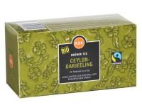 Bio Fairtrade Ceylon-Darjeeling Grüner Tee Teebeutel 24x2g