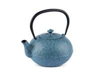 Teekanne Kano 0,9 Liter sprayed himmelblau aus Gusseisen