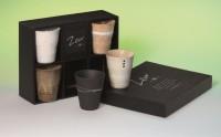 "Japanisches Cup Set ""Zen"" 5 Teetassen aus Keramik, 0,15 l"