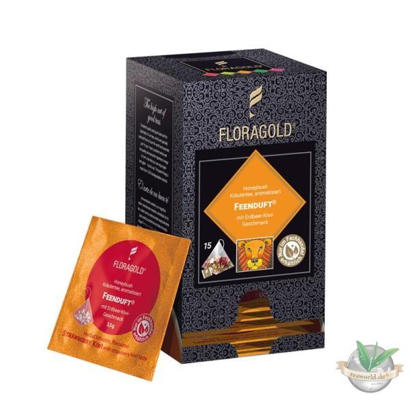 Feenduft Grüner Honeybush Tee - 15 Pyramiden Teebeutel