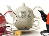 "Tea for one Set ""Lutz"" Keramik, 4 teilig Kanne: 0,4 l, Tasse: 0,2 l"