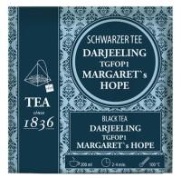 Schwarzer Tee Darjeeling Margaret´s Hope 50 Pyramidenbeutel im Sachet à 3 g
