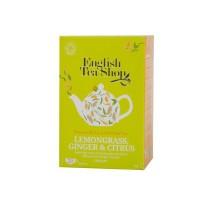 English Tea Shop - Zitronengras Ingwer und Zitrusfrüchte, BIO, 20 Teebeutel