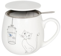 Kuschelbecher Tea for you - Cats an Birds