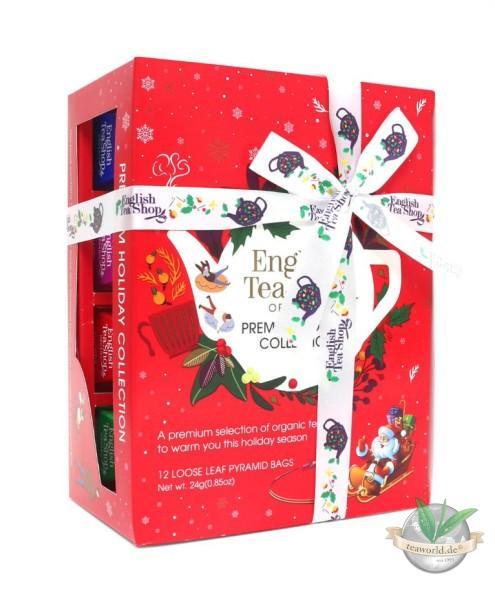 """NEU - English Tea Shop - Bio Teegeschenk mit Schleife """"Premium Christmas Edition"""