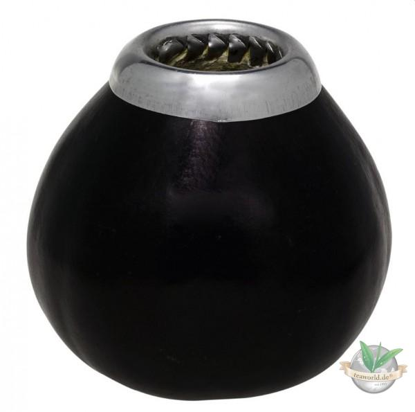 Calebasse, schwarzbraun - Mate-Trinkgefäß