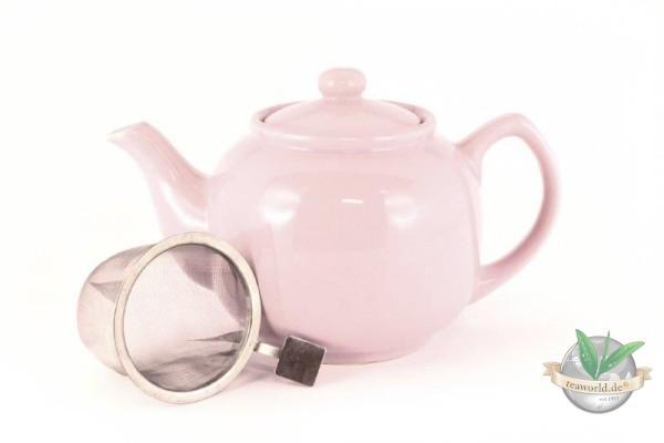 Shamila® – 1,2 Liter Teekanne SOFT-ROSE mit Einsatzsieb