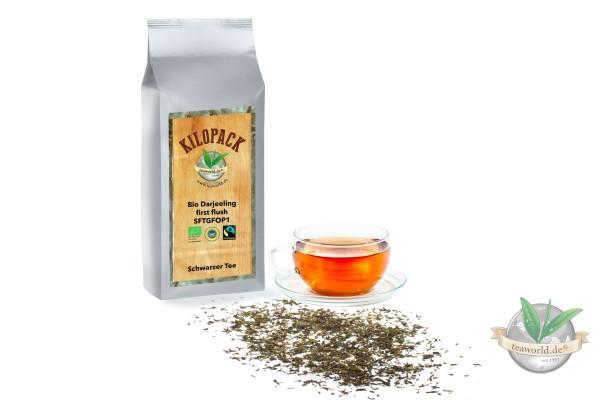 Bio Darjeeling first flush SFTGFOP1 im Kilopack - Tee aus fairem Handel