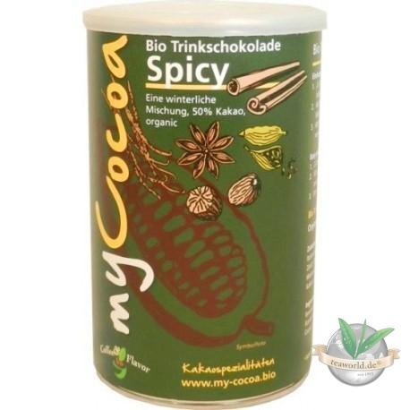 Bio Trinkschokolade Spicy mit Gewürzen - Vegan - 375g -kurzes MHD