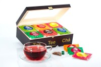 Pyramiden-Teebeutel Probierpaket in eleganter Holzbox
