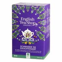 English Tea Shop - Schwarzer Tee ENTKOFFEINIERT, BIO Fairtrade, 20 Teebeutel