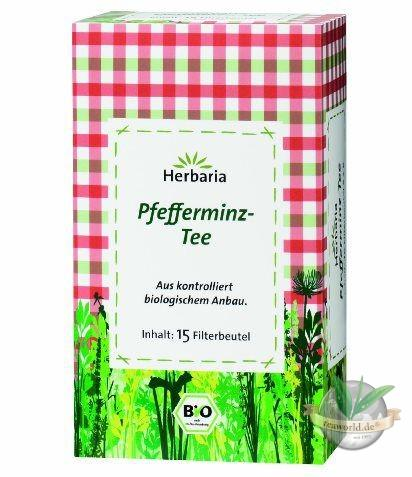 Bio Pfefferminz-Tee Filterbeutel von Herbaria
