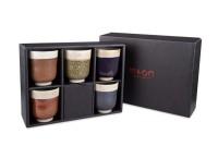 Japanisches Teebecher Geschenkset mit 5 Teeschalen von MAOCI