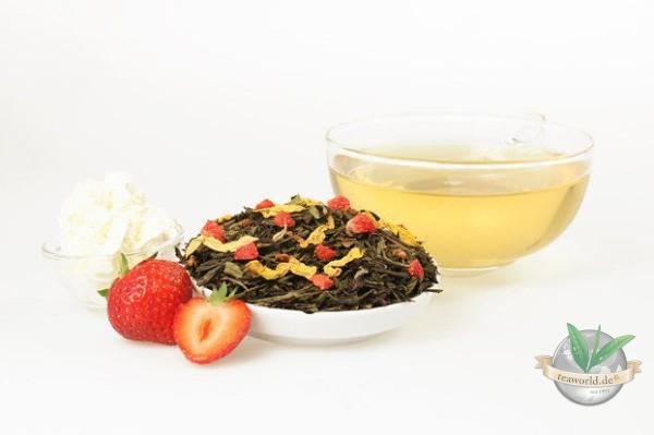 Erdbeer Sahne Grüner Tee