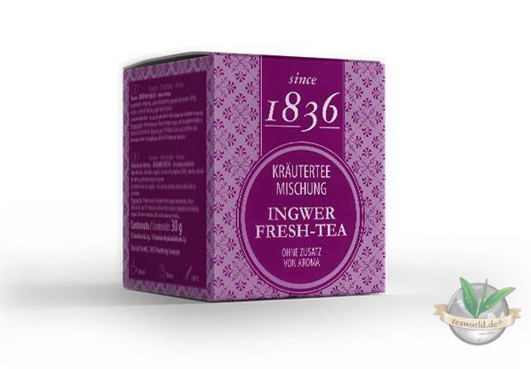 Kräutermischung Ingwer-fresh-Tee - Tee Pyramidenbeutel