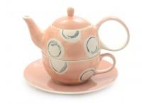 """Tea for one Set """"Paula"""" Keramik, 4-teilig Kanne: 0,4 l, Tasse: 0,2 l"""