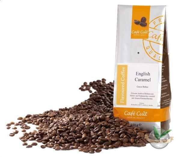 """Kaffee """"English Caramel"""", ganze Bohne, aromatisiert"""