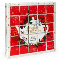 "English Tea Shop - Puzzle Tee Adventskalender ""Red Christmas"", 25 einzelne Boxen"
