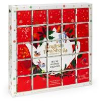"""English Tea Shop - Puzzle Tee Adventskalender """"Red Christmas"""", 25 einzelne Boxen"""