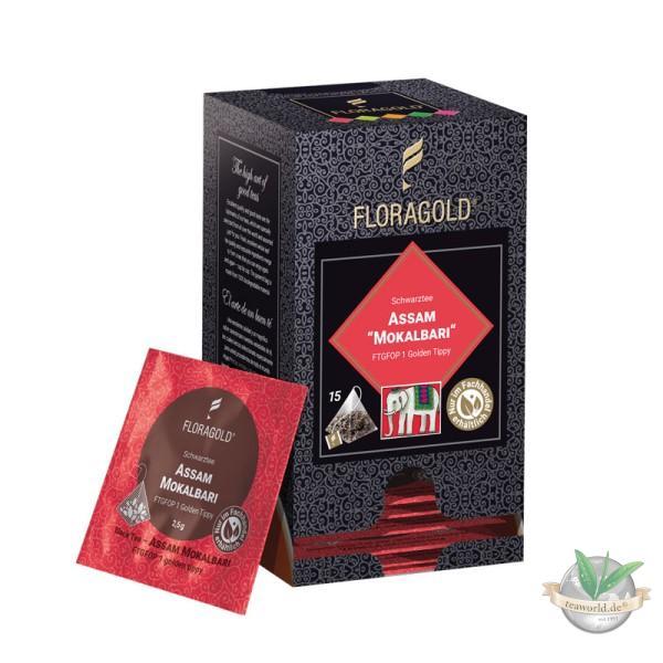 Assam Mokalbari FTGFOP1 Schwarztee - 15 Pyramiden Teebeutel Floragold