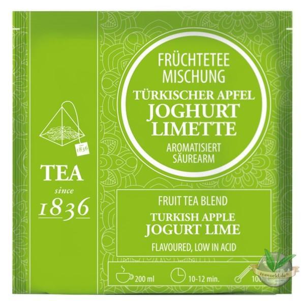 Früchtetee Türkischer Apfel Joghurt-Limette - 50 Pyramidenbeutel à 5g