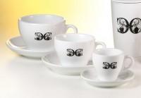 """Kaffee Tasse und Untere """"Cult"""" Porzellan 0,16 l"""