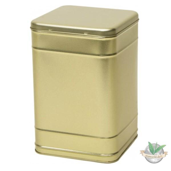 Tee Vorratsdose, Kaffee Vorratsdose für 2000g, mattgold mit Scharnierdeckel