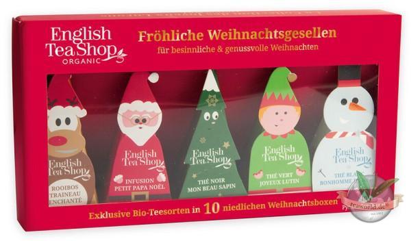 """Wintertee-Kollektion """"Fröhliche Weihnachtsgesellen"""", BIO, 10 Pyramidenbeutel"""