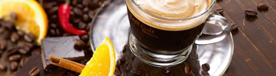 Banner-Image Kaffee aromatisiert, Bohne