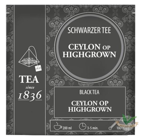 Schwarzer Tee Ceylon OP Highgrown - 50 Pyramidenbeutel à 3,5g